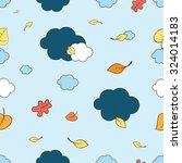 autumn vector seamless pattern...   Shutterstock .eps vector #324014183