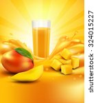 vector background with mango  a ... | Shutterstock .eps vector #324015227
