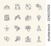 business icons set  team...   Shutterstock .eps vector #324015503