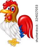 cartoon chicken rooster posing. ... | Shutterstock .eps vector #324027053