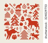 christmas composition in a... | Shutterstock .eps vector #324029753