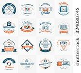 vector set of photography logo... | Shutterstock .eps vector #324030743