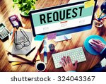 Small photo of Request Require Desire Need Order Demand Concept