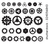 steampunk gear collection | Shutterstock .eps vector #324056843