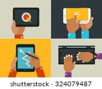 flat design illustrations with...