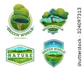 set of logos  signs  badges... | Shutterstock .eps vector #324097313