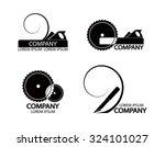 a set of logos  emblems of...   Shutterstock .eps vector #324101027