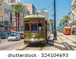 Small photo of NEW ORLEANS, USA - AUGUST 25: New Orleans Streetcar Line at downtown New Orleans on August 25, 2015. The New Orleans Streetcar line began electric operation in 1893.