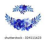flowers watercolor illustration ... | Shutterstock . vector #324111623