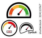 speedometer. abstract symbol of ... | Shutterstock .eps vector #324113567