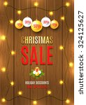 christmas sale vector flyer... | Shutterstock .eps vector #324125627