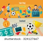 soccer horizontal banner set...