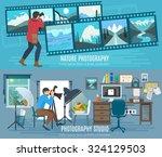 photographer horizontal banner... | Shutterstock .eps vector #324129503