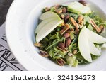 healthy spinach and arugula... | Shutterstock . vector #324134273
