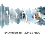 network and technology on... | Shutterstock . vector #324137807