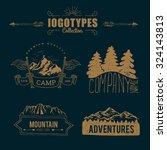 hand drawn logo set. retro...   Shutterstock .eps vector #324143813