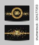 glitter vip gold cards | Shutterstock .eps vector #324177353