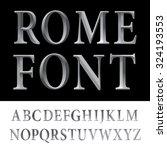 metallic vintage vector font.   Shutterstock .eps vector #324193553