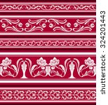 set of seamless borders in the... | Shutterstock .eps vector #324201443