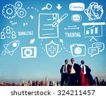 knowledge training e learning... | Shutterstock . vector #324211457