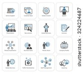 business and finances icons set.... | Shutterstock .eps vector #324224687