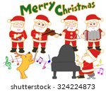 santa claus who plays it in... | Shutterstock .eps vector #324224873