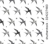 vector flying martins and... | Shutterstock .eps vector #324227483
