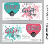 gift voucher certificate coupon ... | Shutterstock .eps vector #324232673