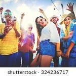 friendship dancing bonding... | Shutterstock . vector #324236717
