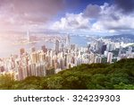 panorama of skyscrapers with... | Shutterstock . vector #324239303