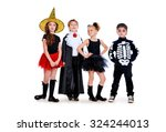Group Of Cute Children Wearing...