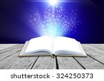 opened magic book on abstract... | Shutterstock . vector #324250373