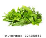 fresh spices herbs isolated on... | Shutterstock . vector #324250553