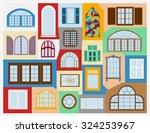 big set city generator. house... | Shutterstock .eps vector #324253967