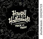 hand drawn halloween vector...   Shutterstock .eps vector #324254723