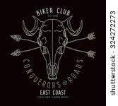 Skull Animal Biker Club Emblem...