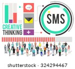 sms digital messaging... | Shutterstock . vector #324294467