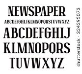 serif font in newspaper style.... | Shutterstock .eps vector #324295073