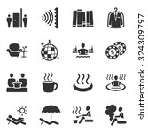 hotel facility icon vector set... | Shutterstock .eps vector #324309797