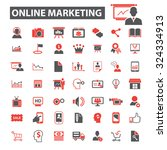 online marketing icons | Shutterstock .eps vector #324334913