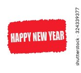 happy new year white stamp text ... | Shutterstock . vector #324339377