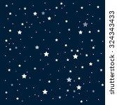 vector background. starry night ...   Shutterstock .eps vector #324343433