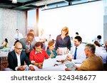 business people office working... | Shutterstock . vector #324348677