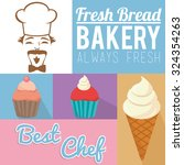 always fresh bakery products... | Shutterstock .eps vector #324354263
