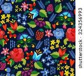 bright vector seamless pattern... | Shutterstock .eps vector #324356993