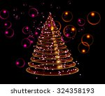 abstract illustration with... | Shutterstock . vector #324358193