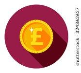 Vector Gold Coin. British Poun...