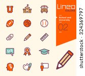 lineo colors   school and... | Shutterstock .eps vector #324369797