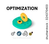 optimization icon  vector...