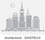 business center of big city...   Shutterstock .eps vector #324378113
